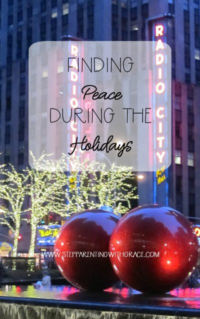 Finding Peace During the Holidays