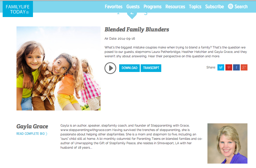 Blended Family Blunders on Family LIfe Today