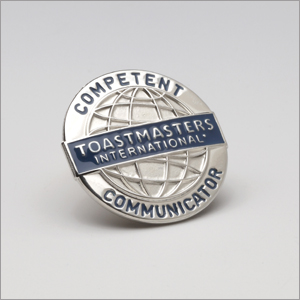 Competent Communicator award with Toastmasters International
